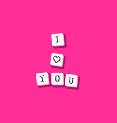 i love you valentines card vector image