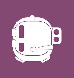Icon astronaut helmet vector