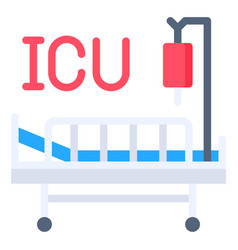 Intensive care unit flat style icon vector