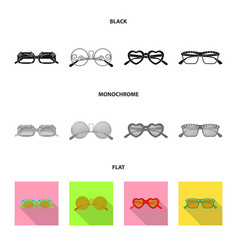 Isolated object of glasses and sunglasses symbol vector