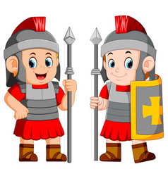 Legionary soldier of the roman empire vector