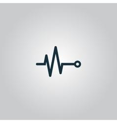 Life line - Heart beat cardiogram vector