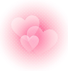 Light Valentines background vector image