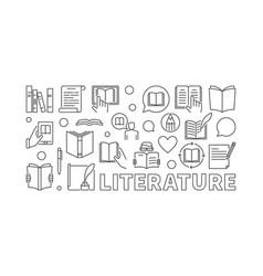 Literature outline vector