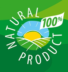 logo ecological landscape for natural products vector image