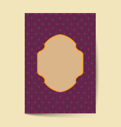 luxury premium cover design with vintage pattern vector image