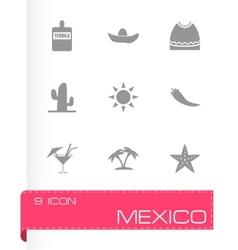 mexico icon set vector image