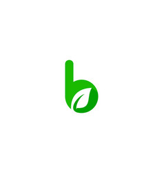 nature letter b logo icon design vector image