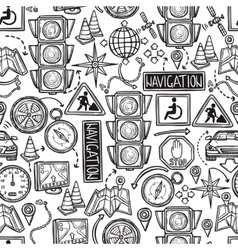Navigation Seamless Pattern vector