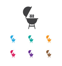 Of travel symbol on barbecue vector