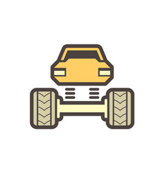 off road truck icon vector image