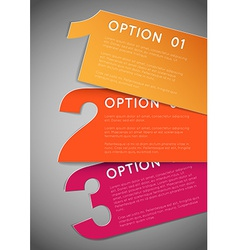 One two three - progress background vector