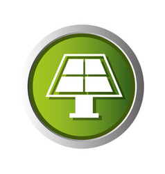panel solar ecology icon vector image