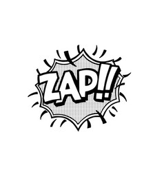 Pop art style sticker vector