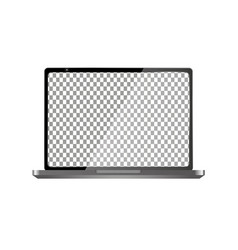 Realistic computer with transparent wallpaper vector