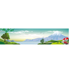 Realistic view of nature vector