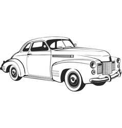 retro car coupe classic vintage monogram vector image