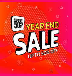 Sale year end discount upto 50 vector