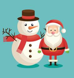 Santa claus christmas character vector
