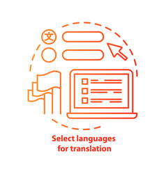 Select languages for translation red concept icon vector