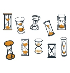 set hourglasses or egg timers vector image