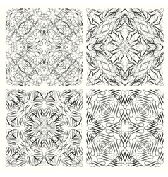 set seamless pattern in retro style vector image