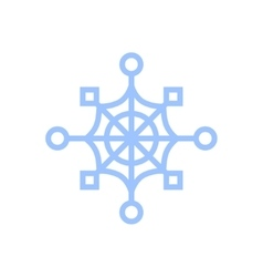 snowflake isolated on white Cartoon vector image