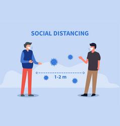 Social distancing keep 1-2 meter distance vector