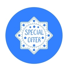 Special offer icon in black style isolated on vector image