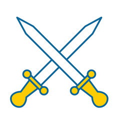 swords game weapons icon vector image