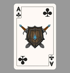 The ace of clubs playing card vector