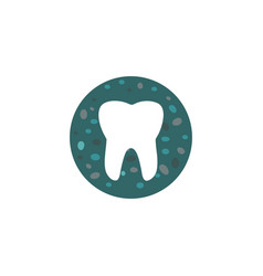 tooth stones logo vector image