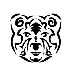Tribal bear vector