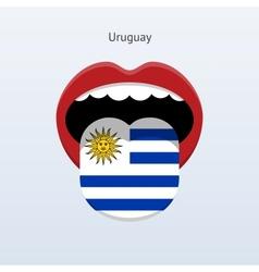 Uruguay language abstract human tongue vector