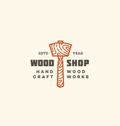 Wood shop logo vector