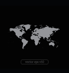World map on black background vector image