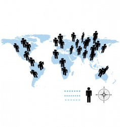 world population vector image