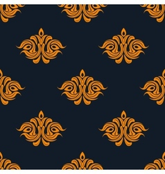 Arabesque damask style seamless pattern vector image