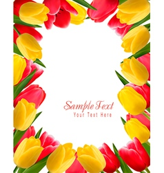 Colorful spring flower background vector image vector image