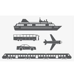 Different kinds of transport vector image
