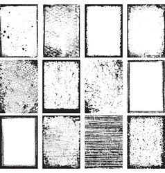 Grunge Backgrounds And Frames vector image