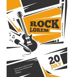 Live music poster template vector image vector image
