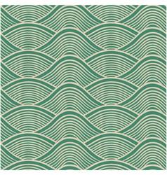seamless ocean wave pattern vector image