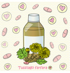 syrup and coltsfoot vector image vector image