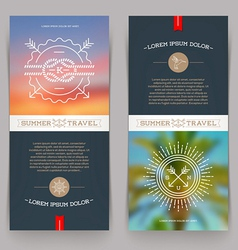 Vertical banners with Nautical and Travel sign vector image vector image