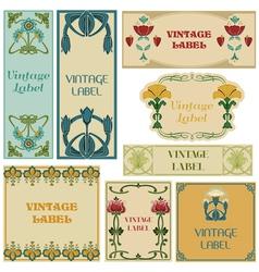 Vintage Style Labels Set vector image