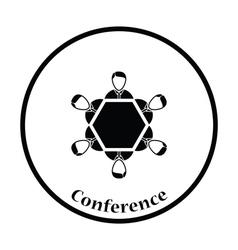 Conversation table icon vector image vector image