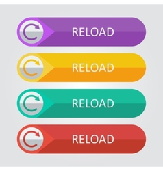 Flat buttons reload vector
