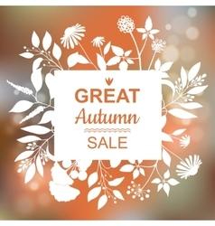 Great Autumn Sale Banner vector image