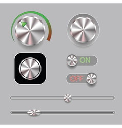 music buttons vector image